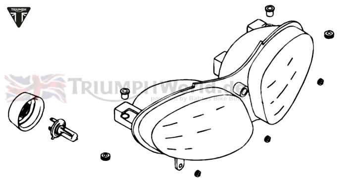 Triumph Sprint RS Hauptscheinwerfer komplett Sprint RS 955