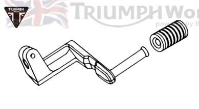 Triumph Speed Triple Schalthebel Speed Triple 885/955 bis