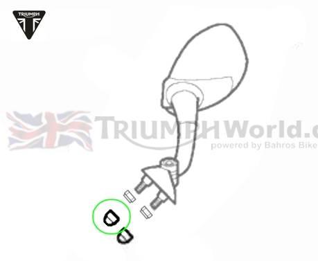 Triumph Daytona 955i Blindkappe M6 schwarz Daytona T595