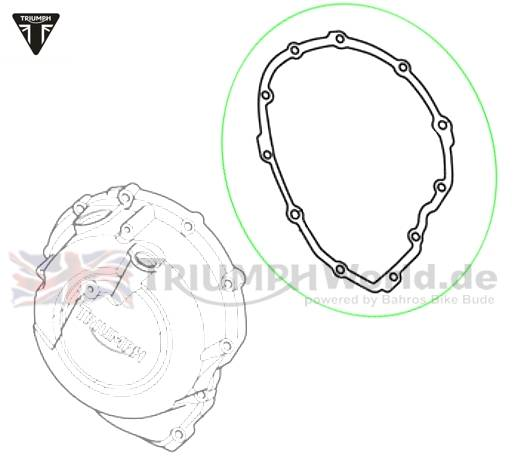 Triumph Tiger Gasket Clutch Cover Tiger 800Tiger 800 Part