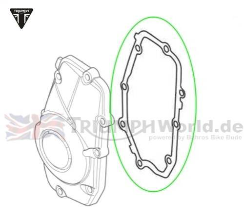 small resolution of gasket crankcase cover tiger 800