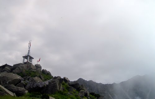 Kunal Pathri Devi Temple in Triund Hill