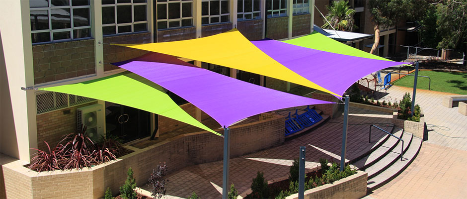 shade sail guide for fabric hardware