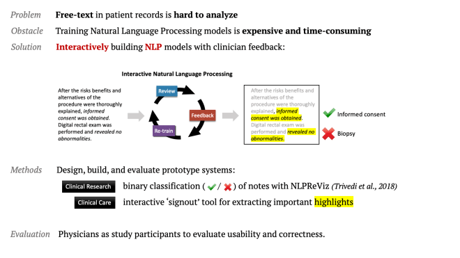Interactive Natural Language Processing on Clinical Text