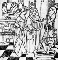 medieval footbath