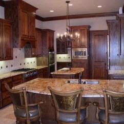 Venetian Gold Granite Kitchen Small Eat In Table Dfw - Dallas, Texas