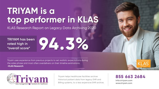 Triyam is a top performer in KLAS