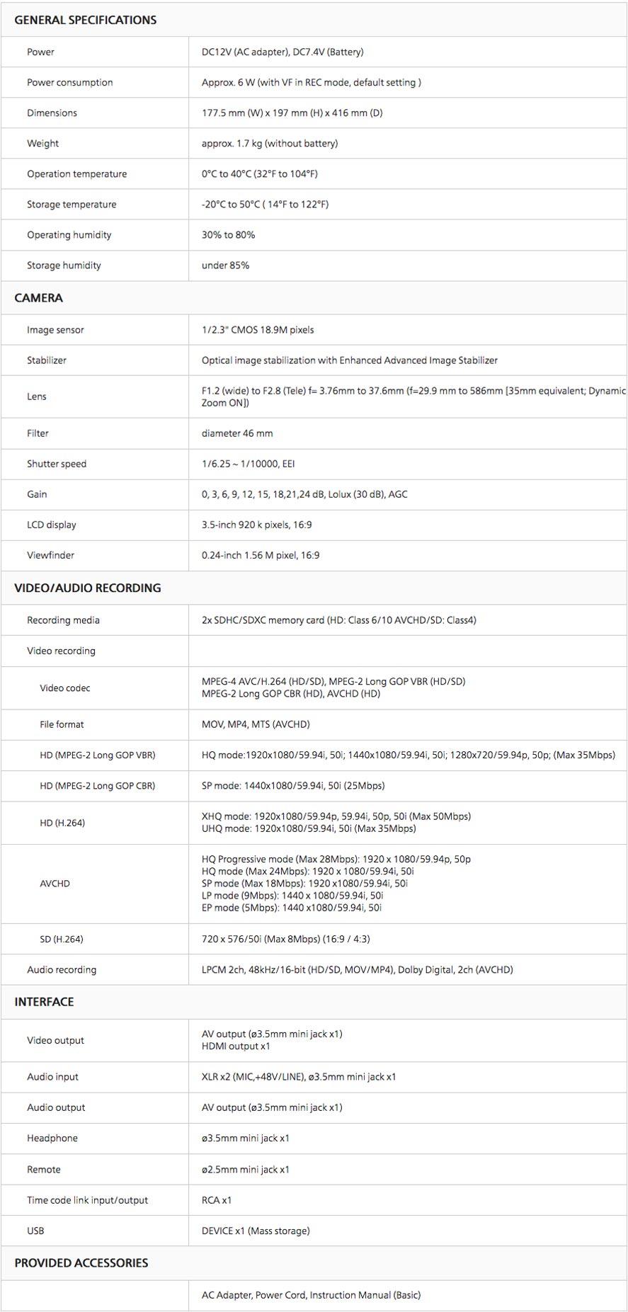 CAMESCOPE DE POING JVC  JY-HM360