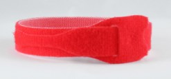 VELCRO STRAPS 25 MM X 300 MM ROUGE