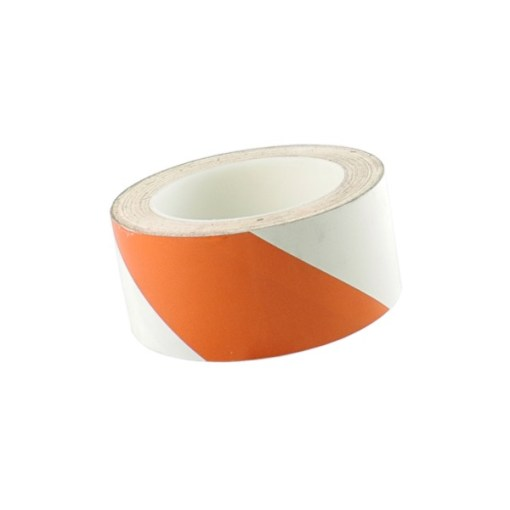 TAPE PVC MARQUAGE 50 MM X 33 M AT8H ROUGE/BLANC