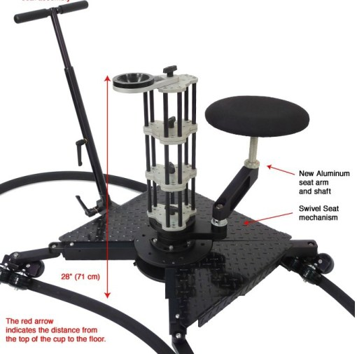 SPIDER DOLLY 4 ROULETTES COMPLET POUR FLEX TRACK