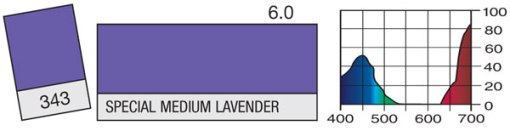 FILTRE LEE FILTERS 343 343 SPECIAL MEDIUM LAVENDER (feuille)