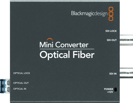 CONVERTISSEUR BLACKMAGIC BIDIRECTIONNEL FIBRE OPTIQUE SDI