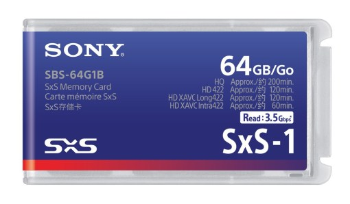 CARTE SONY SxS-1 64 GB