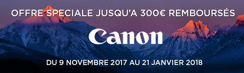 Offre Canon Cashback hiver 2017