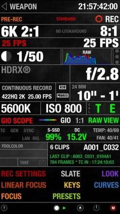 Télécommande pour camera RED® DSMC2® avec WIFI intégré