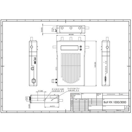 KIT DE TRANSMISSION HF TERADEK BOLT 1000 3G-SDI