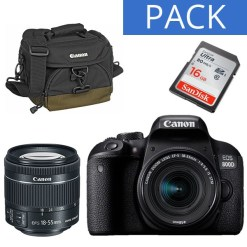KIT CANON EOS 800D +18-55 IS STM+SAC 100EG+SD16G
