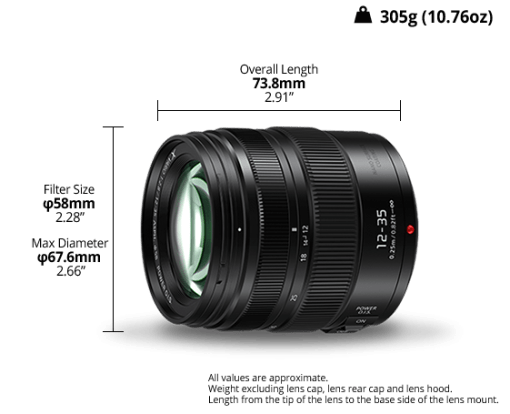 Panasonic Lumix 12-35mm F2.8 Power O.I.S. - Objectif