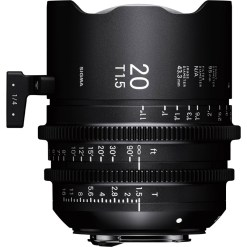 Sigma 20mm T1.5 FF (Canon EF) - Objectif Prime Cinéma