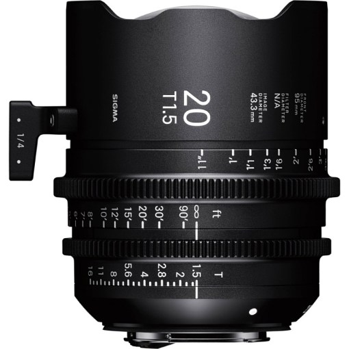 OBJECTIF SIGMA 20MM T1.5 FF F/CE Canon EF