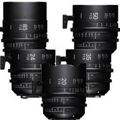 Sigma 20-24-35-50-85 + PMC-002 (Canon EF) - Kit Objectif Prime Cinéma