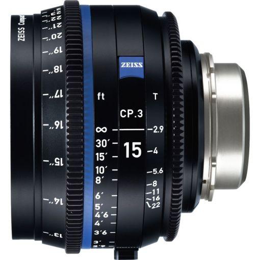 ZEISS CP.3 15mm T2.9 Monture F Métrique - Objectif Prime