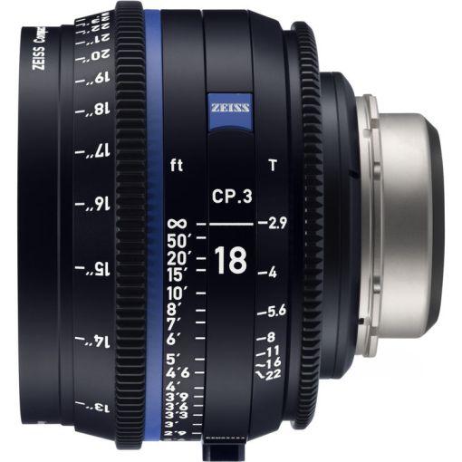 ZEISS CP.3 18mm T2.9 Monture EF Métrique - Objectif Prime