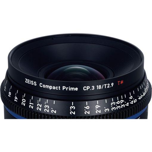 ZEISS CP.3 18mm T2.9 Monture F Impérial - Objectif Prime