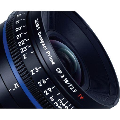 OPTIQUE ZEISS CP3 18mm T2.9 MONT F METRIQUE