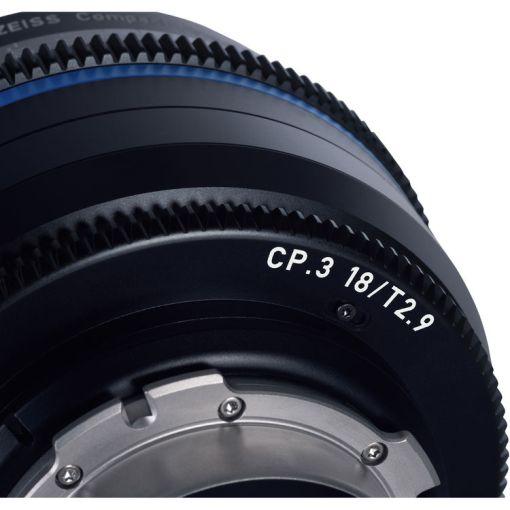 ZEISS CP.3 28mm T2.1 Monture PL Métrique - Objectif Prime