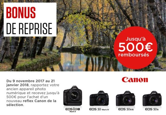 Bonus de reprise EOS Canon Hiver 2017