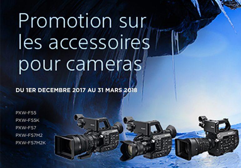 Promotion sur les accessoires pour caméras Sony !