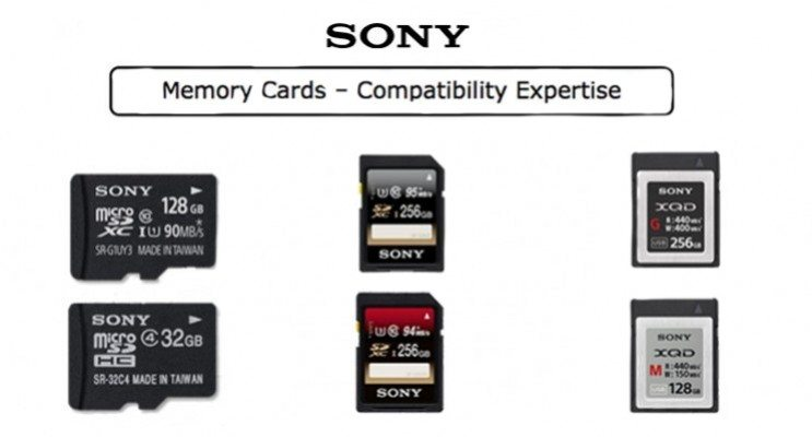 Carte Xqd 128 Go.Tableau De Compatibilite Cartes Sony Sd Xqd Trm