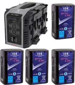 IDX 4 Batteries Endura CUE-D150 & Chargeur VL-4SE - Kit Batteries et Chargeur
