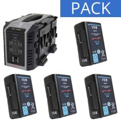 IDX 4 Batteries E-HL10DS & Chargeur VL-4SE - Kit Batteries et Chargeur