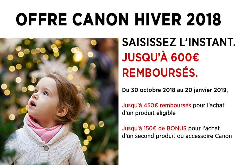 Offre Canon Hiver 2018