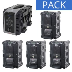KIT 4 BATTERIES IDX IPL-150 + CHARGEUR VL-4SE
