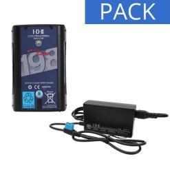 IDX Batterie DUO-C198 & Chargeur VL-DT1 - Kit Batterie et Chargeur