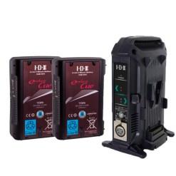 IDX EC-75/2X Kit 2 Batteries CUE-D75 & Chargeur VL-2X - Kit Batteries et Chargeur