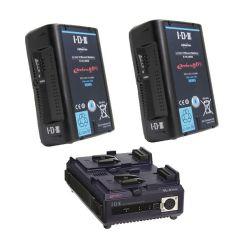 IDX EH-10/2 - Kit de 2 Batteries E-HL10DS avec Chargeur VL-2PLUS