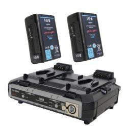 IDX EH10/2000S - Kit de 2 Batteries E-HL10DS + Chargeur VL-2000S