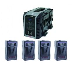 IDX EP-9/4Se – Kit de 4 Batteries E-HL9 avec Chargeur VL-4Se
