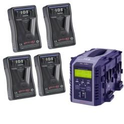 IDX EP-9/4Si - Kit de 4 Batteries E-HL9 avec Chargeur VL-4SI