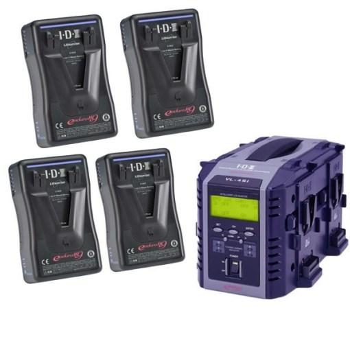 IDX EP-9/4Si Kit 4 Batteries E-HL9 & Chargeur VL-4SI - Kit Batteries et Chargeur
