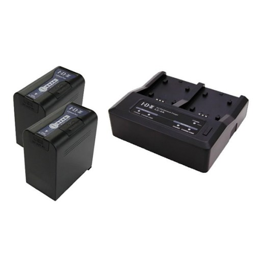 IDX PP-2A Kit 2 Batteries SL-VBD96 & Chargeur LC-2A - Kit Batteries et Chargeur