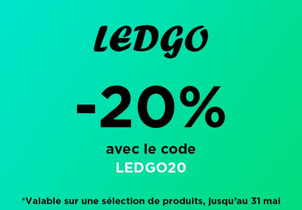[Promo] -20% sur une sélection de produits Ledgo !