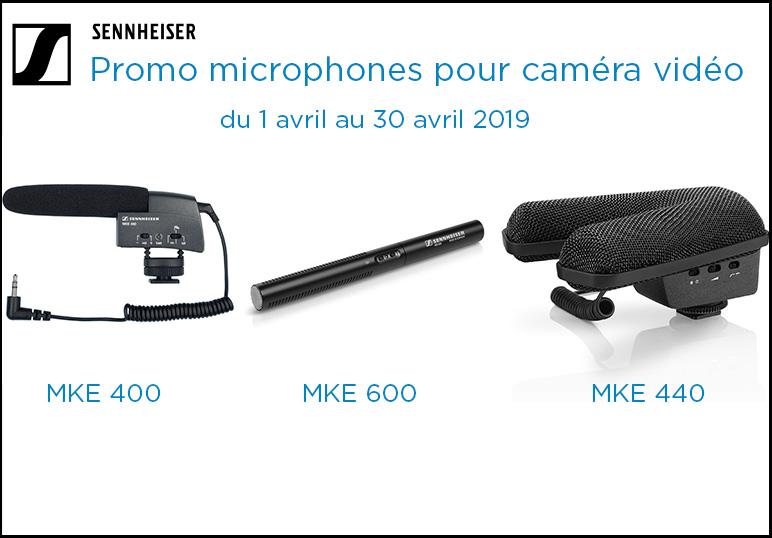 Promotion Sennheiser MKE 400, MKE 440 et MKE 600