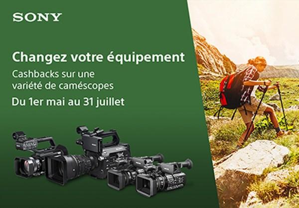 [Promo] Jusqu'à 500 euros remboursés sur une variété de caméscopes Sony