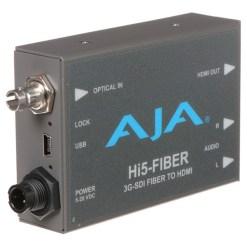 AJA Hi5-Fiber - Mini Convertisseur avec Entrée ST Fibre